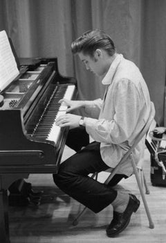 Elvis At The Piano (1956) Silver Gelatin Print