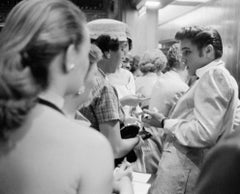 Elvis With Fans (1956) Silver Gelatin Print