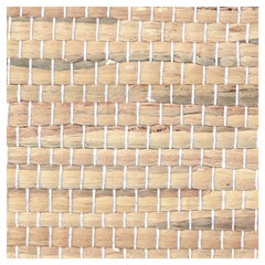 Phillip Jeffries Braided Water Hyacinth Natural Wallpaper, Almond 3146, Cream