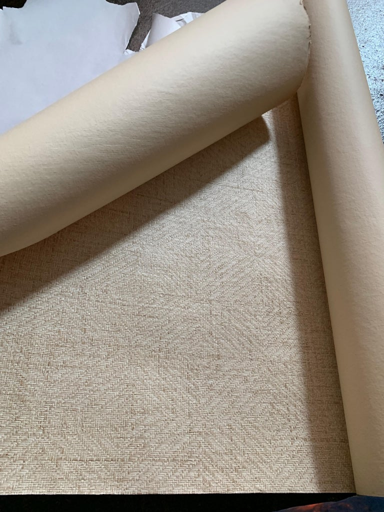 Fresh and sophisticated, the Diamond Weave collection offers a unique and versatile option in woven wallcoverings. A diamond pattern is woven within a square approximately 6 x 7 in size to produce a subtle design with a 3-dimensional effect.