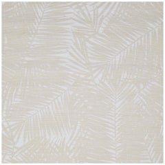 Phillip Jeffries Eggshell on White Manila Hemp Hand-Printed Custom Wallpaper