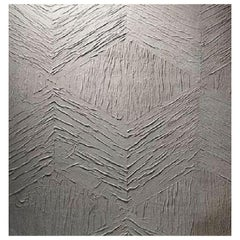Phillip Jeffries Modern Mosaic Artisanal Wallpaper Sleek Gray, 5013