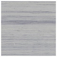 Phillip Jeffries Soho Grasscloth Hemp Natural Wallpaper Blue and Gray 5282