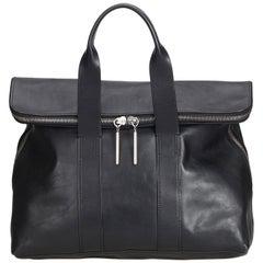 Phillip Lim Black  Leather 3.1 Hour Handbag United States of America