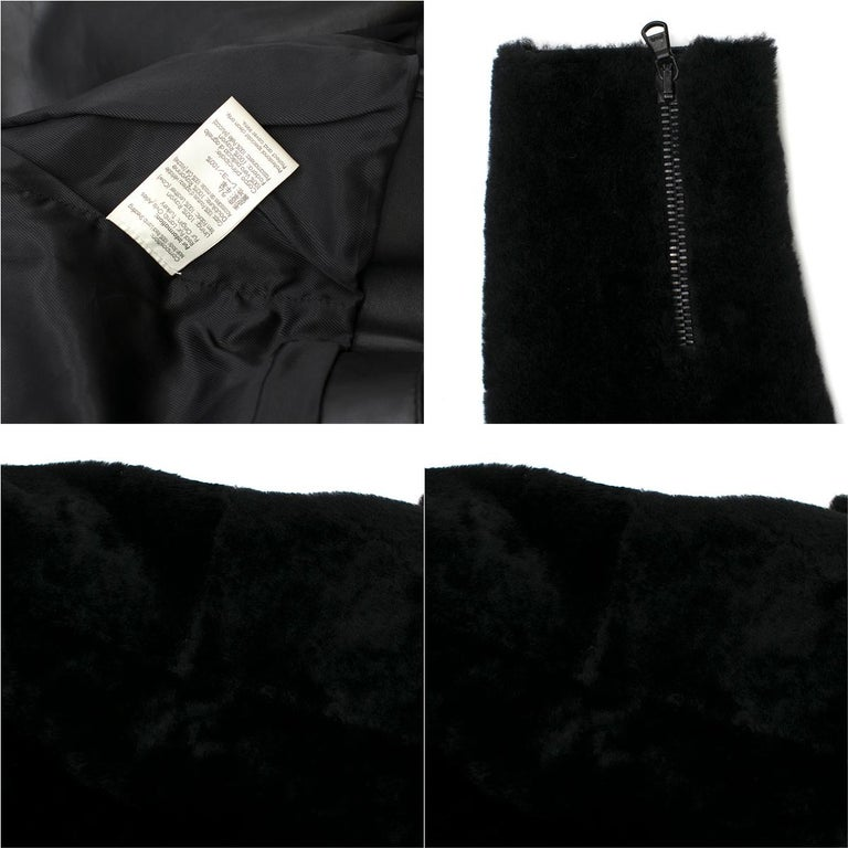 Phillip Lim Motorcycle jacket with Fur and Leather Panelling - Size US 4 For Sale 5
