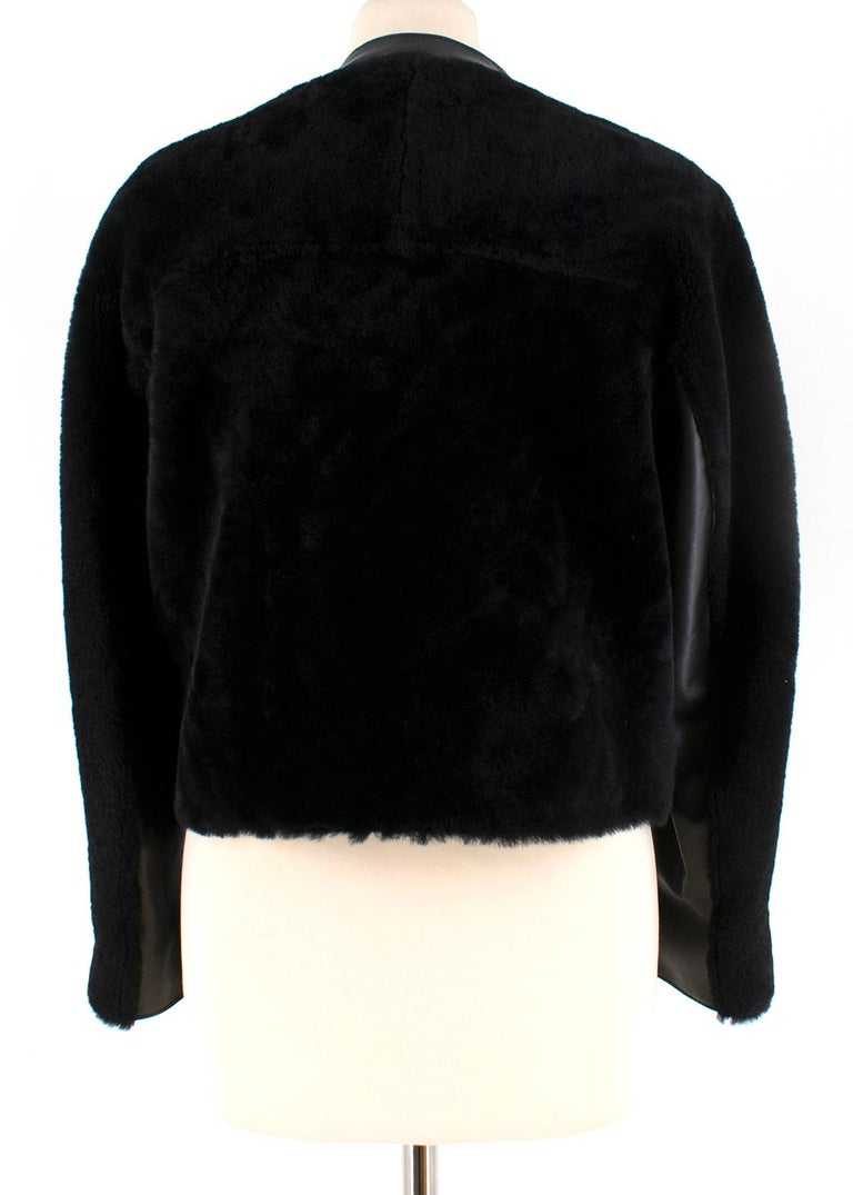 Phillip Lim Motorcycle jacket with Fur and Leather Panelling - Size US 4 In New Condition For Sale In London, GB