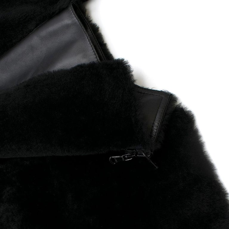 Phillip Lim Motorcycle jacket with Fur and Leather Panelling - Size US 4 For Sale 4
