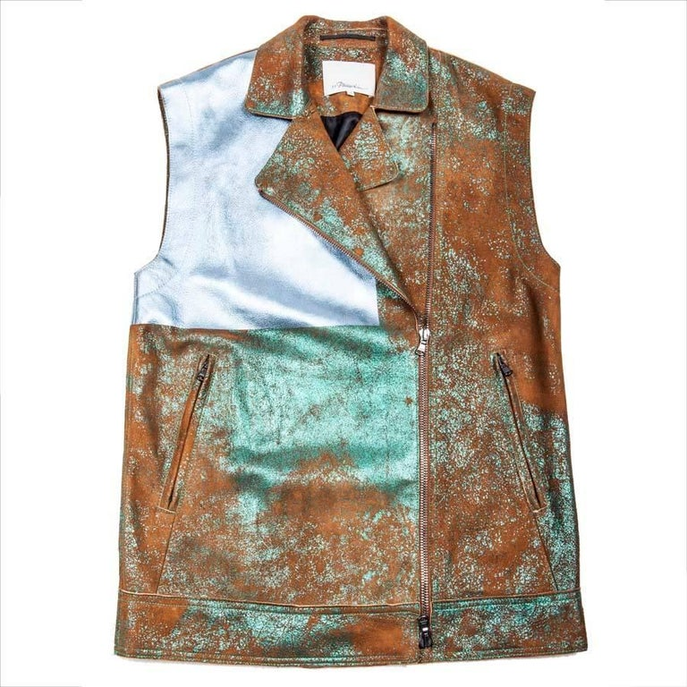 Phillip Lim Sleeveless Jacket in Lamb Leather