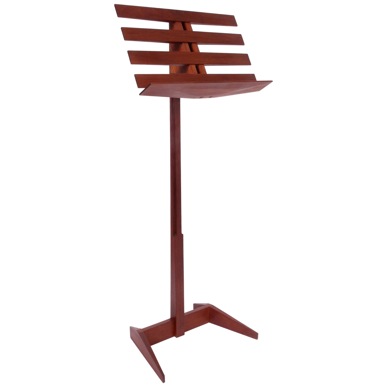 Phillip Lloyd Powell Craft Movement Adjustable Music Stand in Walnut