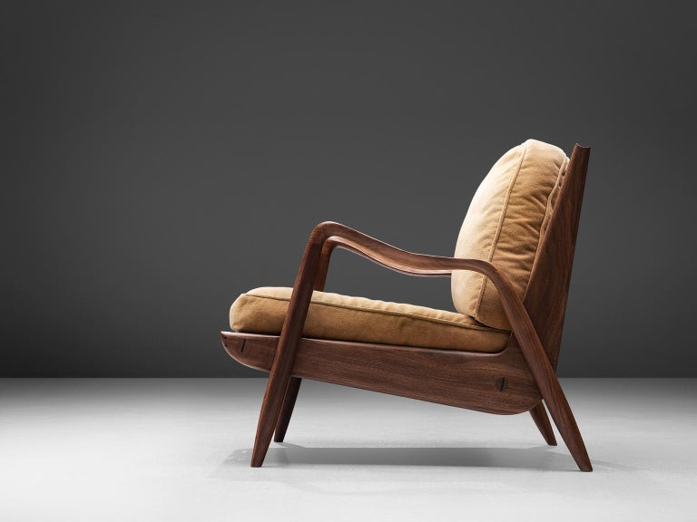 Mid-Century Modern Phillip Lloyd Powell 'New Hope' Lounge Chair For Sale