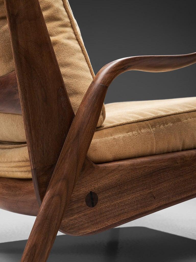 Velvet Phillip Lloyd Powell 'New Hope' Lounge Chair For Sale