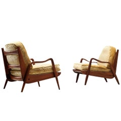 Pair of Phillip Lloyd Powell 'New Hope' Lounge Chairs