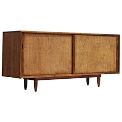 Phillip Lloyd Powell Sideboard in Walnut with Seagrass Doors