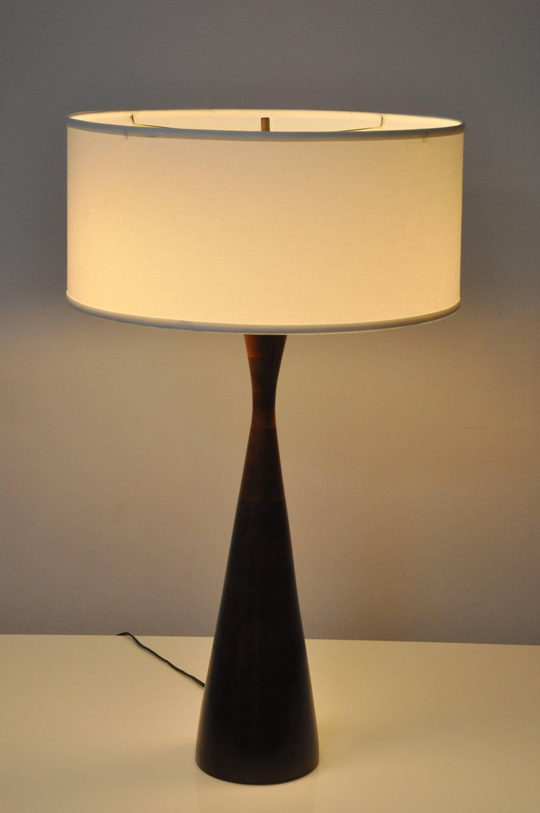 Mid-20th Century Phillip Lloyd Powell Stacked Walnut Lamps For Sale