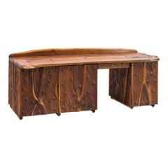 Phillip Lloyd Powell, Unique Carved Desk, USA
