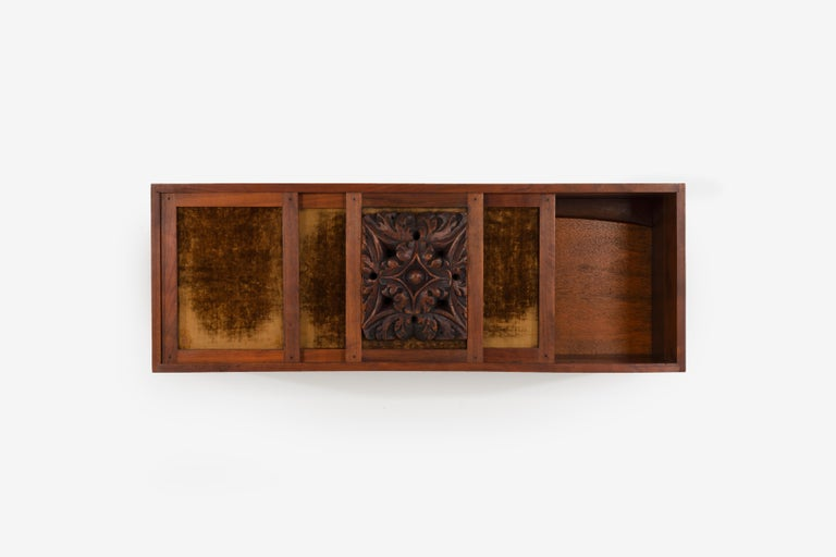 Phillip Lloyd Powell Wall Hanging Cabinet In Good Condition For Sale In Chicago, IL