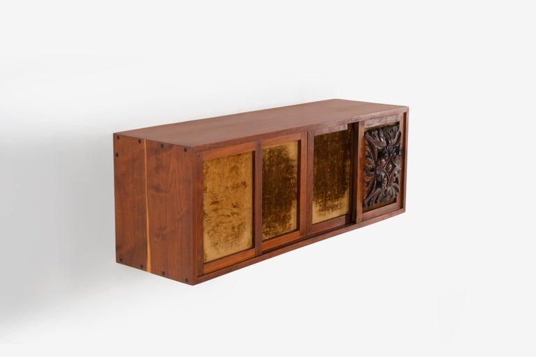 Velvet Phillip Lloyd Powell Wall Hanging Cabinet For Sale
