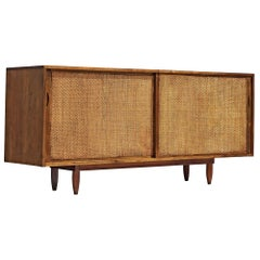 Phillip Lloyd Powell Walnut Sideboard with Seagrass