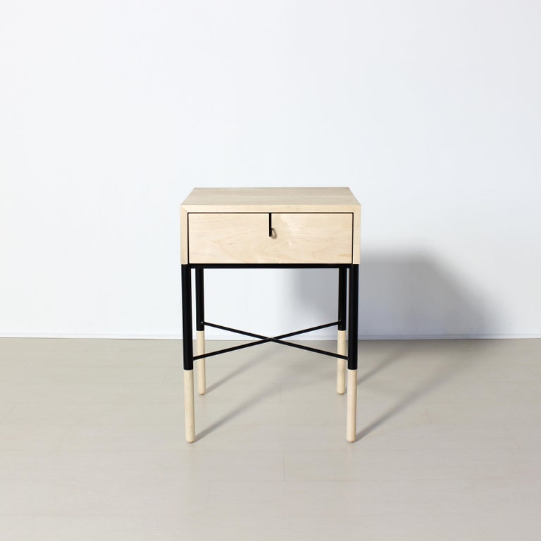 American Phillip Maple Side Table and Nightstand Set  For Sale