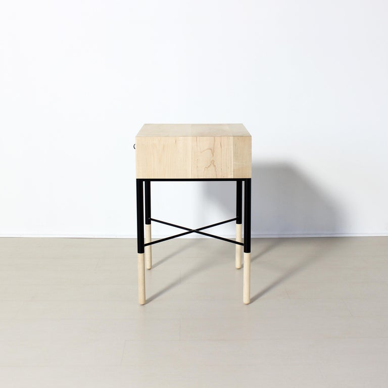 Blackened Phillip Maple Side Table and Nightstand Set  For Sale