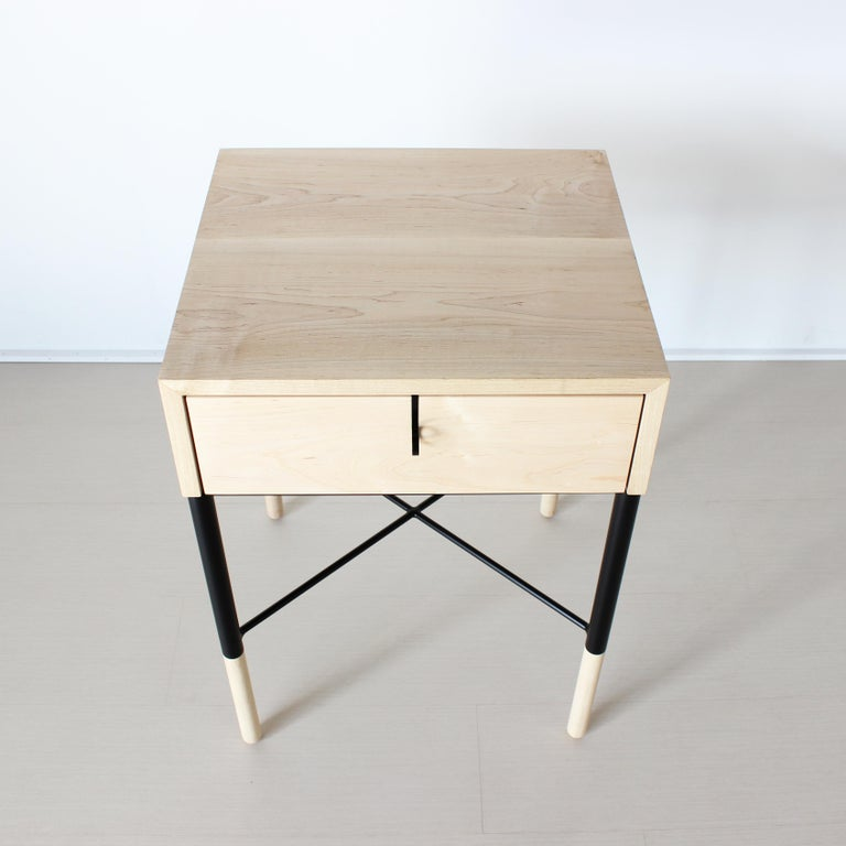 Phillip Maple Side Table and Nightstand Set  For Sale 1