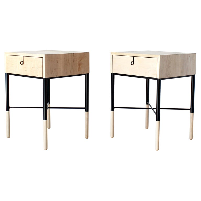 Phillip Maple Side Table and Nightstand Set  For Sale