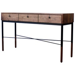 Phillip Modern Walnut Console or Entryway Table