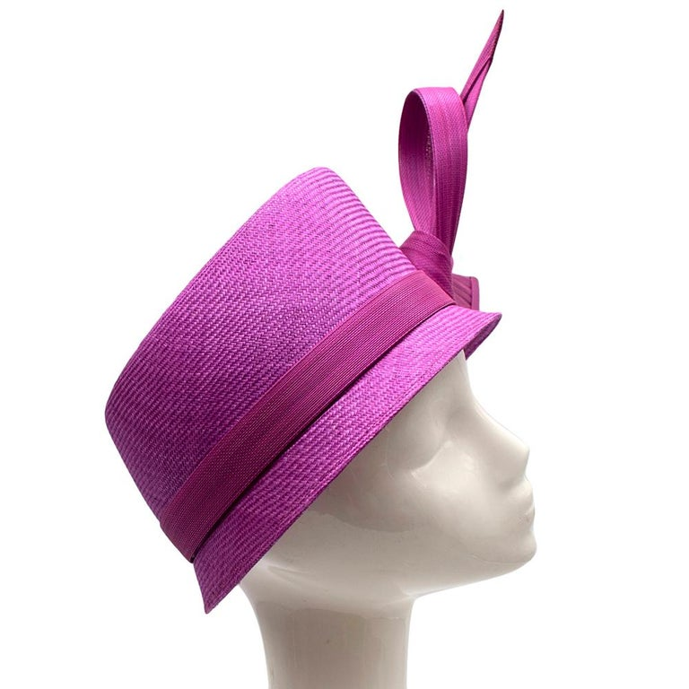 Purple Phillip Treacy Magenta Parasisal Occasion Hat For Sale