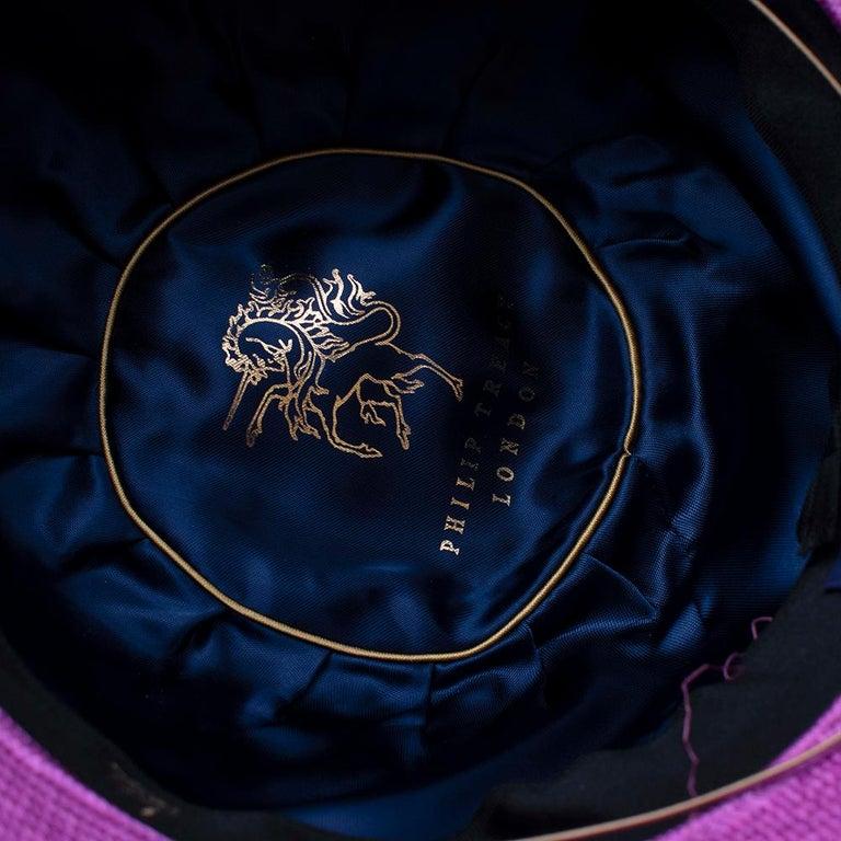 Phillip Treacy Magenta Parasisal Occasion Hat For Sale 1