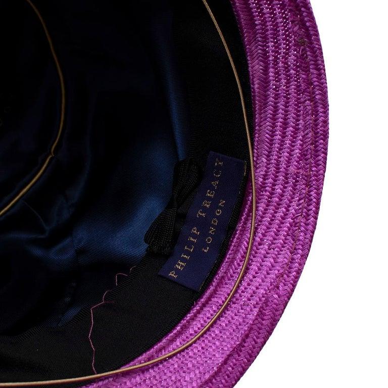 Phillip Treacy Magenta Parasisal Occasion Hat For Sale 2