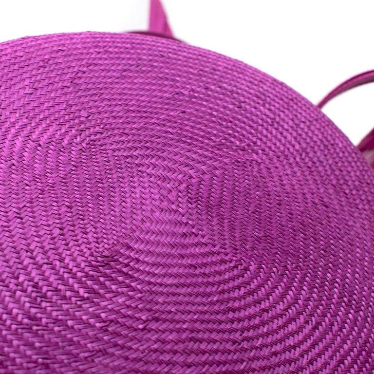 Phillip Treacy Magenta Parasisal Occasion Hat For Sale 4