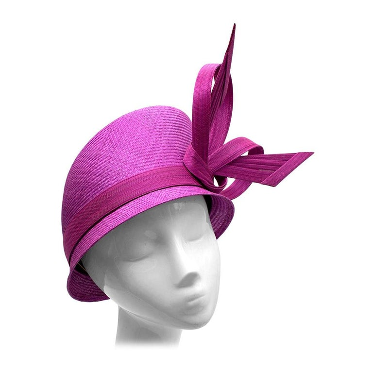 Phillip Treacy Magenta Parasisal Occasion Hat For Sale