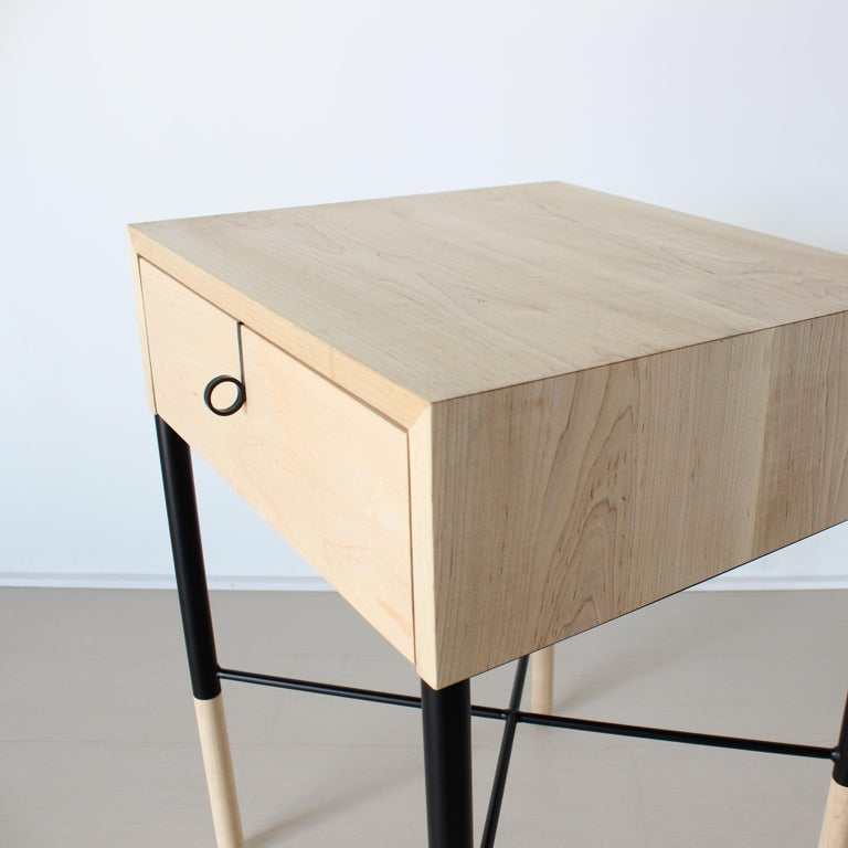 Phillip Walnut Nightstand and Side Table For Sale 2