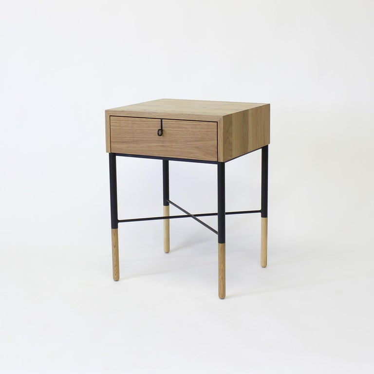 Modern Phillip Walnut Nightstand and Side Table For Sale