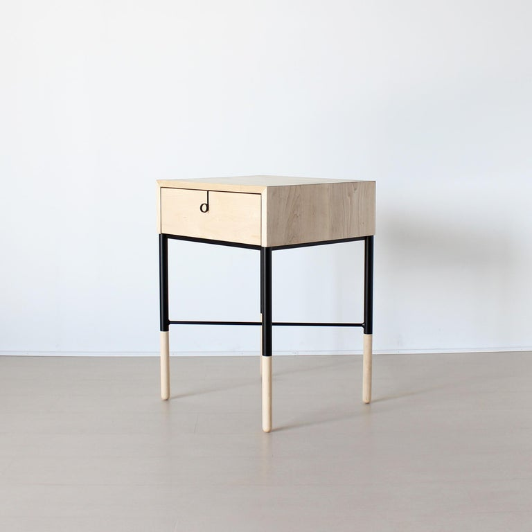 American Phillip Walnut Nightstand and Side Table For Sale