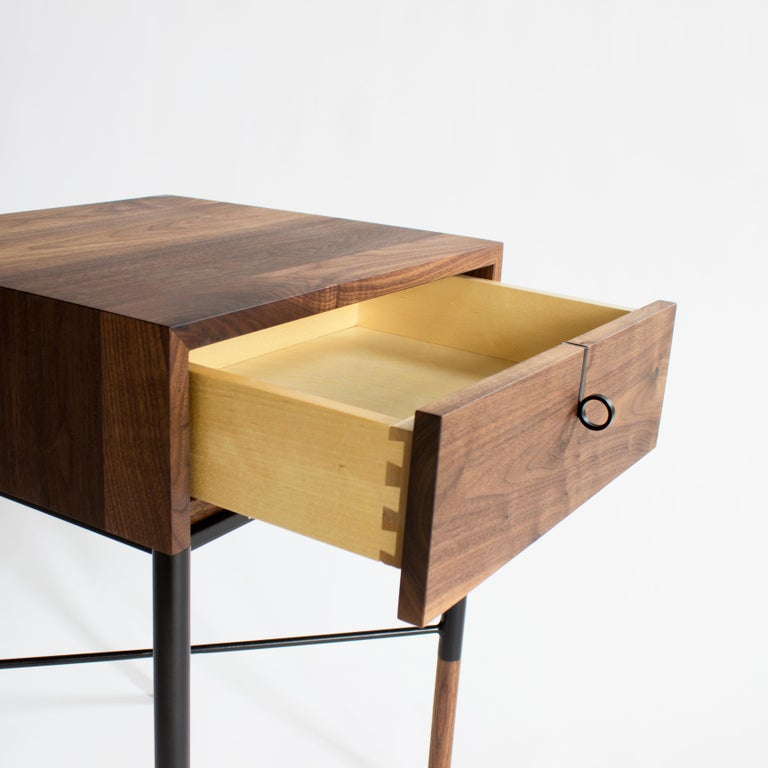 Phillip Walnut Nightstand and Side Table For Sale 1