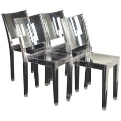 Phillippe Starck for Kartell La Marie MCM Clear Acrylic Dining Chairs, Set 4