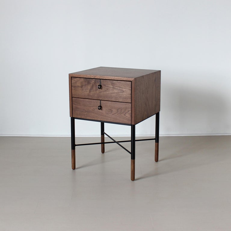 Phillip Two-Drawer Nightstand , Bed Side Table and End Table  For Sale 3