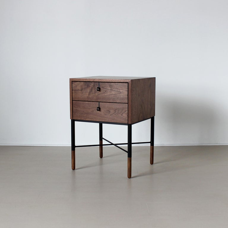 Modern Phillip Two-Drawer Nightstand , Bed Side Table and End Table  For Sale