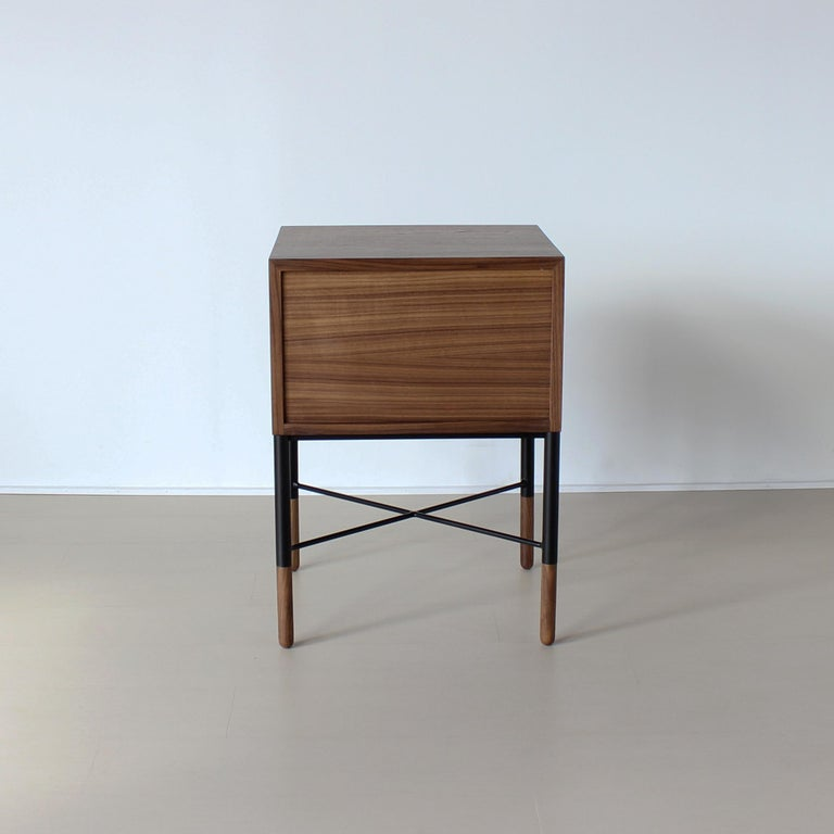 Contemporary Phillip Two-Drawer Nightstand , Bed Side Table and End Table  For Sale