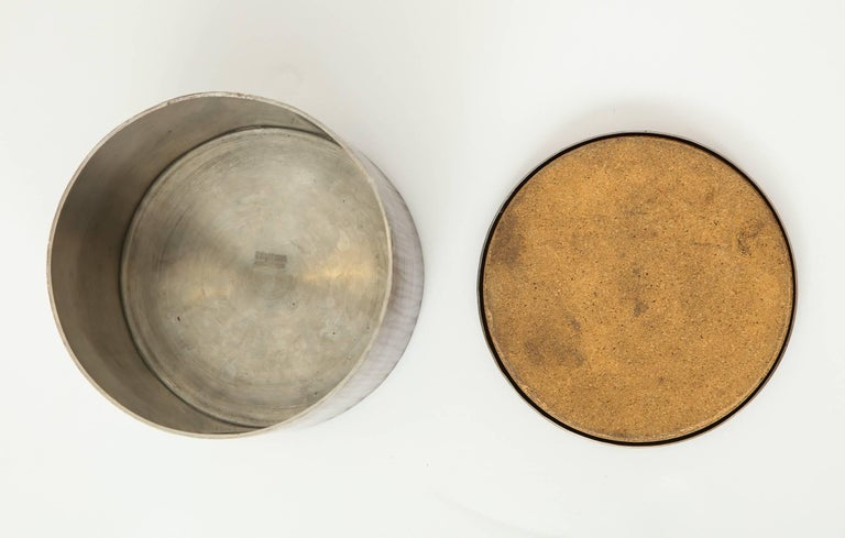 Late 20th Century Philolaos Hammered Steel Canister For Sale