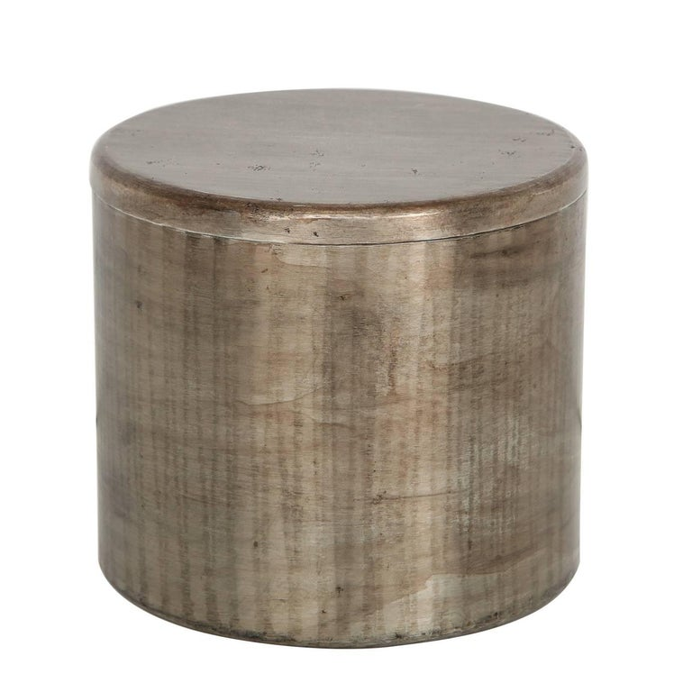 Philolaos Hammered Steel Canister For Sale