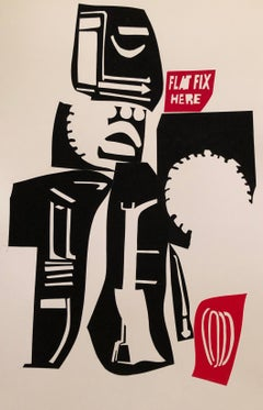 Improv 2, cut paper, graphic, industrial, playful, urban, city