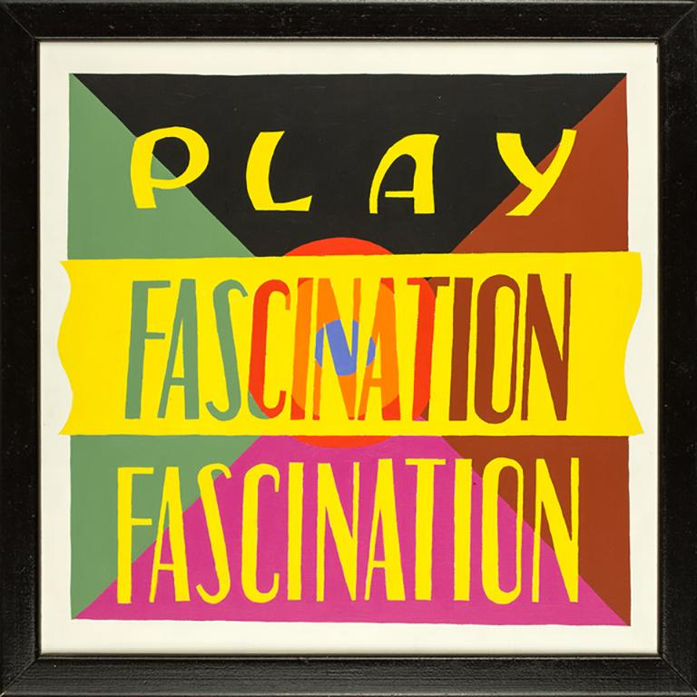 PLAY FASCINATION 2, colorful mixed media, text