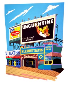 Bill-Board-Walk, Burning/Coney Island, Bright colors, popular culture, New York