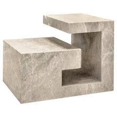 Philos Sculptural Table in Solid Marble