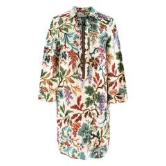 Philosophy Di Lorenzo Serafini Floral Print Half-Zip Dress UK 8