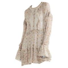 Philosophy Di Lorenzo Serafini Lace Floral Mini Dress US6