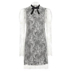 Philosophy di Lorenzo Serafini White Lace Cocktail Dress US 4
