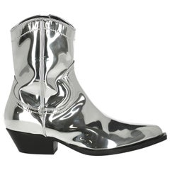 Philosophy Woman Ankle boots Silver Synthetic Fibers IT 38